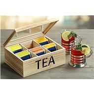 Kesper tea doboz, természetes fa