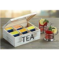 Kesper Tea doboz, fehér fa - Rendszerező