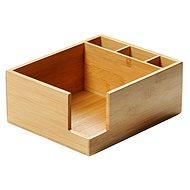 Kesper Box szalvétákhoz és evőeszközökhöz, bambusz 21,5x18 cm