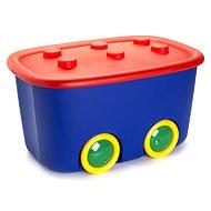 KIS Funny box L piros/kék 46 l - Tárolódoboz