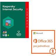 Kaspersky Int. Security 1 személy számára 12 hónapig + Microsoft Office 365 egyének számára (elektr - Biztonsági szoftver