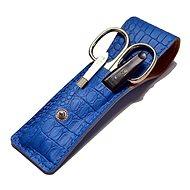 Premium Line PL 891 utazó manikűrkészlet - kék krokodil - Manikűr szett