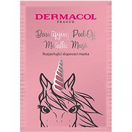 DERMACOL Beautifying Brightening Peel-Off Metallic Mask - világosító