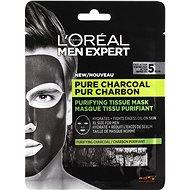 ĽORÉAL PARIS Men Expert Pure Charcoal Tissue Mask 30 g - Arcpakolás