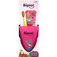SIGNAL Strawberry Fogápoló készlet gyerekeknek - Szájápolási készlet