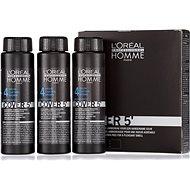 ĽORÉAL PROFESSIONNEL Homme COVER 5' 4 3 x 50 ml (4 - közepes barna) - Férfi hajfesték