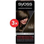 SYOSS Color 5-1 Világosbarna 3 × 50 ml - Hajfesték