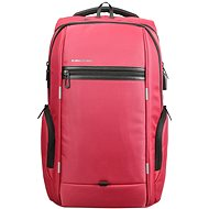 "Kingsons Business Travel Laptop Backpack 15.6"" piros színű - Laptop hátizsák"
