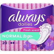 MINDIG Dailies Normal To Go Fresh Intimate 20 db - Egészségügyi betét