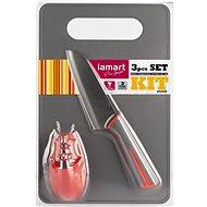 LAMART LT2099 kés, élező, vágódeszka szett - Késkészlet