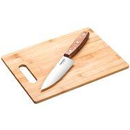 LAMART LT2059 30 × 20 x 9cm bambusz vágódeszka és kés - Vágódeszka
