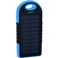 XLAYER Powerbank PLUS Solar 4000mAh fekete/kék - Powerbank