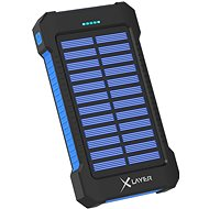 XLAYER Powerbank PLUS Solar 8000mAh fekete/kék - Powerbank