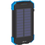 XLAYER Powerbank PLUS Solar QI Wireless 10000mAh fekete/kék - Powerbank