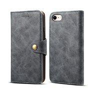 Lenuo Leather tok iPhone 8/7 készülékhez, szürke