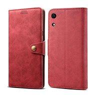 Lenuo Leather tok Honor 8A készülékhez, piros - Mobiltelefon tok