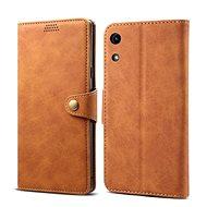 Lenuo Leather tok Honor 8A készülékhez, barna - Mobiltelefon tok