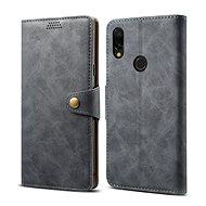 Lenuo Leather tok Xiaomi Redmi 7 készülékhez, szürke - Mobiltelefon tok