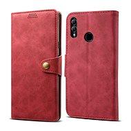 Lenuo Leather tok Honor 10 lite készülékhez, piros - Mobiltelefon tok