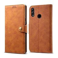 Lenuo Leather tok Honor 10 lite készülékhez, barna - Mobiltelefon tok
