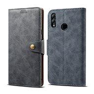 Lenuo Leather tok Honor 10 Lite készülékhez, szürke - Mobiltelefon tok