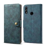 Lenuo Leather tok Honor 10 Lite készülékhez, kék - Mobiltelefon tok