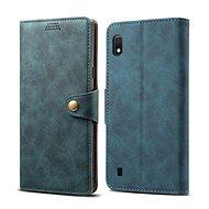 Lenuo Leather tok Samsung Galaxy A10 készülékhez, kék - Mobiltelefon tok