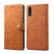 Lenuo Leather tok Samsung Galaxy A50/A50s/A30s készülékhez, barna