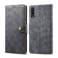 Lenuo Leather tok Samsung Galaxy A50/A50s/A30s készülékhez, szürke