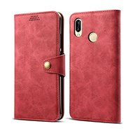 Lenuo Leather tok Huawei P30 lite/P30 Lite New Edition készülékhez, piros