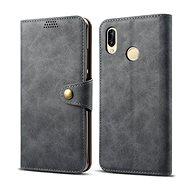 Lenuo Leather tok Huawei P30 lite/P30 Lite New Edition készülékhez, szürke