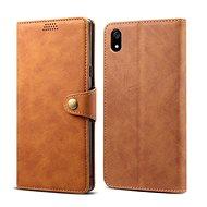Lenuo Leather tok Xiaomi Redmi 7A készülékhez, barna - Mobiltelefon tok