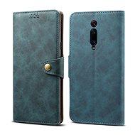 Lenuo Leather tok Xiaomi Mi 9T/Mi 9T Pro készülékhez, kék - Mobiltelefon tok