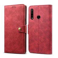 Lenuo Leather tok Honor 20 lite készülékhez, piros - Mobiltelefon tok