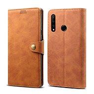 Lenuo Leather tok Honor 20 lite készülékhez, barna - Mobiltelefon tok