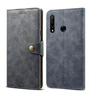 Lenuo Leather tok Honor 20 lite készülékhez, szürke - Mobiltelefon tok