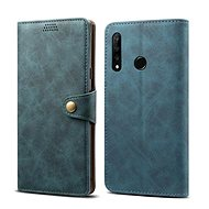 Lenuo Leather tok Honor 20 lite készülékhez, kék - Mobiltelefon tok