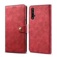 Lenuo Leather tok Honor 20/Huawei Nova 5T készülékhez, piros - Mobiltelefon tok