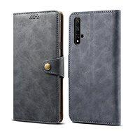 Lenuo Leather tok Honor 20/Huawei Nova 5T készülékhez, szürke - Mobiltelefon tok