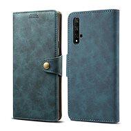 Lenuo Leather tok Honor 20/Huawei Nova 5T készülékhez, kék - Mobiltelefon tok