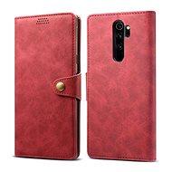 Mobiltelefon tok Lenuo Leather a Xiaomi Redmi Note 8 Pro számára, piros - Pouzdro na mobil