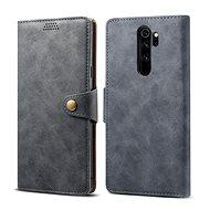 Mobiltelefon tok Lenuo Leather a Xiaomi Redmi Note 8 Pro számára, szürke - Pouzdro na mobil