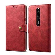 Lenuo bőrtok Xiaomi Redmi 8 készülékhez, piros - Mobiltelefon tok