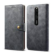 Lenuo bőrtok Xiaomi Redmi 8 készülékhez, szürke - Mobiltelefon tok