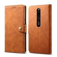 Lenuo bőrtok Xiaomi Redmi 8 készülékhez, barna - Mobiltelefon tok