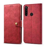 Mobiltelefon tok Lenuo bőrtok Xiaomi Redmi Note 8T készülékhez, piros - Pouzdro na mobil