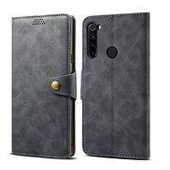Mobiltelefon tok Lenuo bőrtok Xiaomi Redmi Note 8T készülékhez, szürke - Pouzdro na mobil