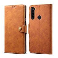 Mobiltelefon tok Lenuo bőrtok Xiaomi Redmi Note 8T készülékhez, barna - Pouzdro na mobil