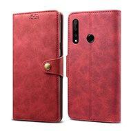 Lenuo Leather - Honor 9X készülékekhez, piros színű
