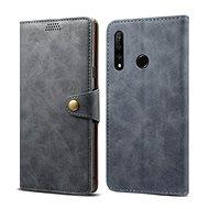 Lenuo Leather - Honor 9X készülékekhez, szürke színű - Mobiltelefon tok